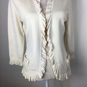Dana Buchman Silk Cream Sweater  -  Size M